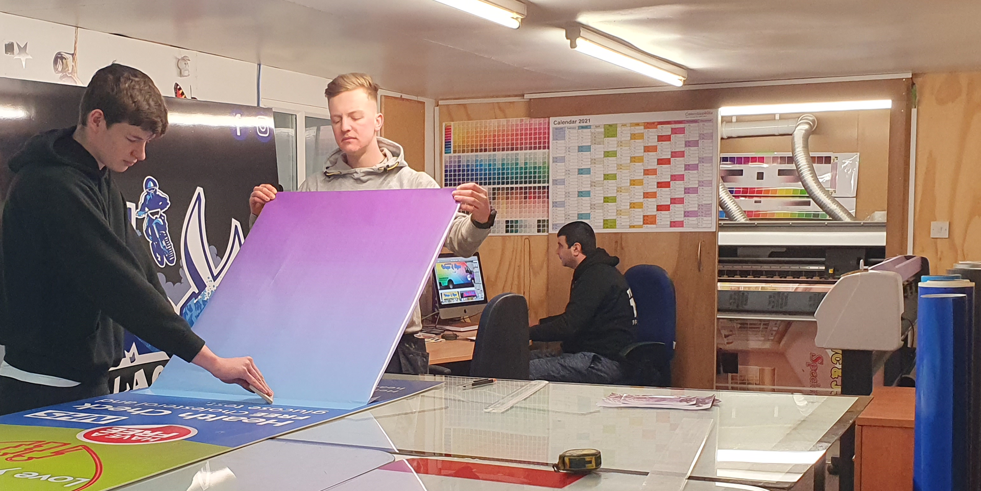 Blackpool Signs and Wraps workshop
